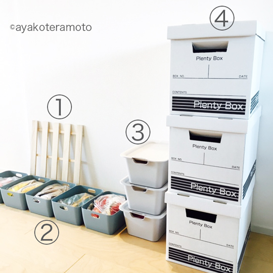 靴箱に使ってる、セリアの4アイテム。