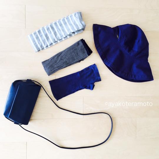アームカバー、帽子、ショルダーバッグ