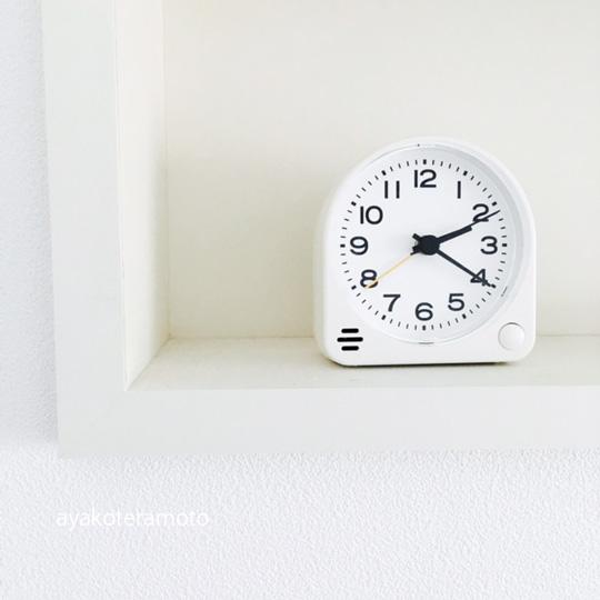 「無印良品、アナログ目覚まし時計」をリピートしました