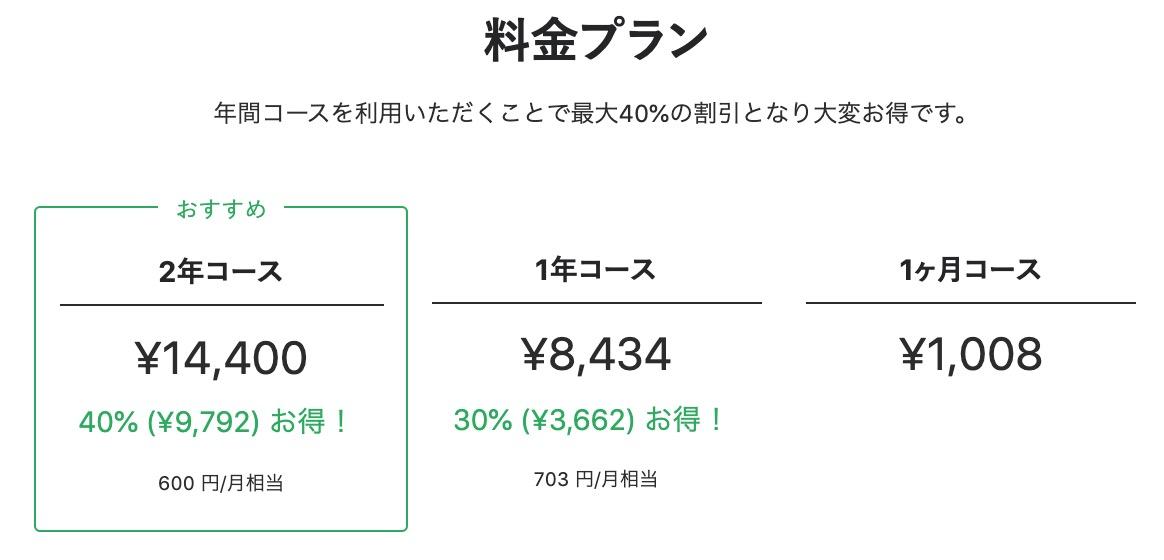 はてなブログPro 料金表