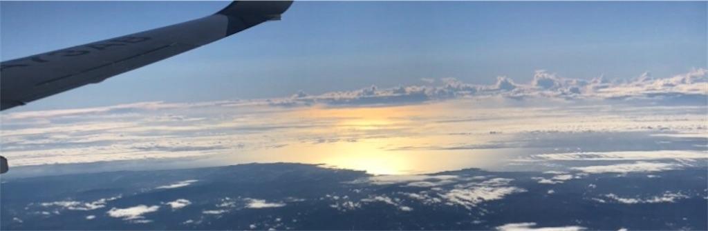飛行機から撮影した風景