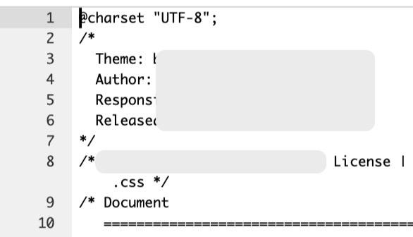 CSS記載内容