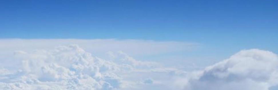飛行機から見える雲海