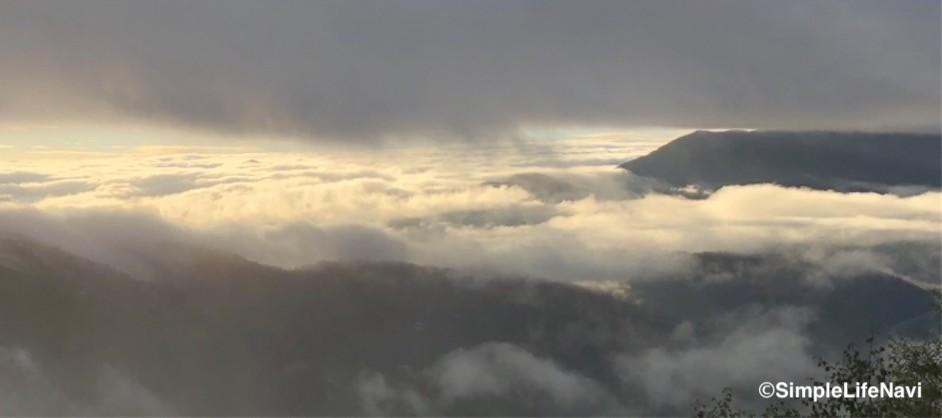 雲海スポットからの眺め