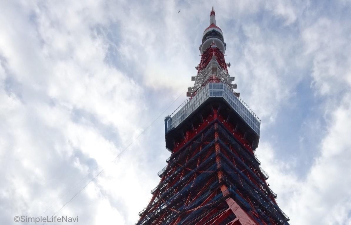 東京タワーの上の部分
