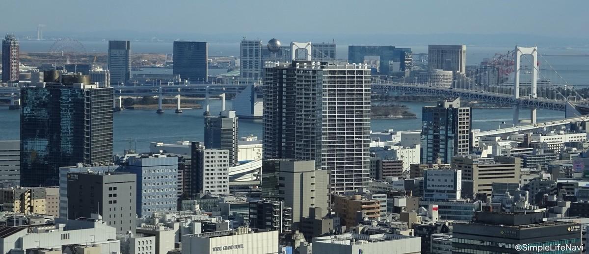 東京タワーからの遠景(お台場方面)