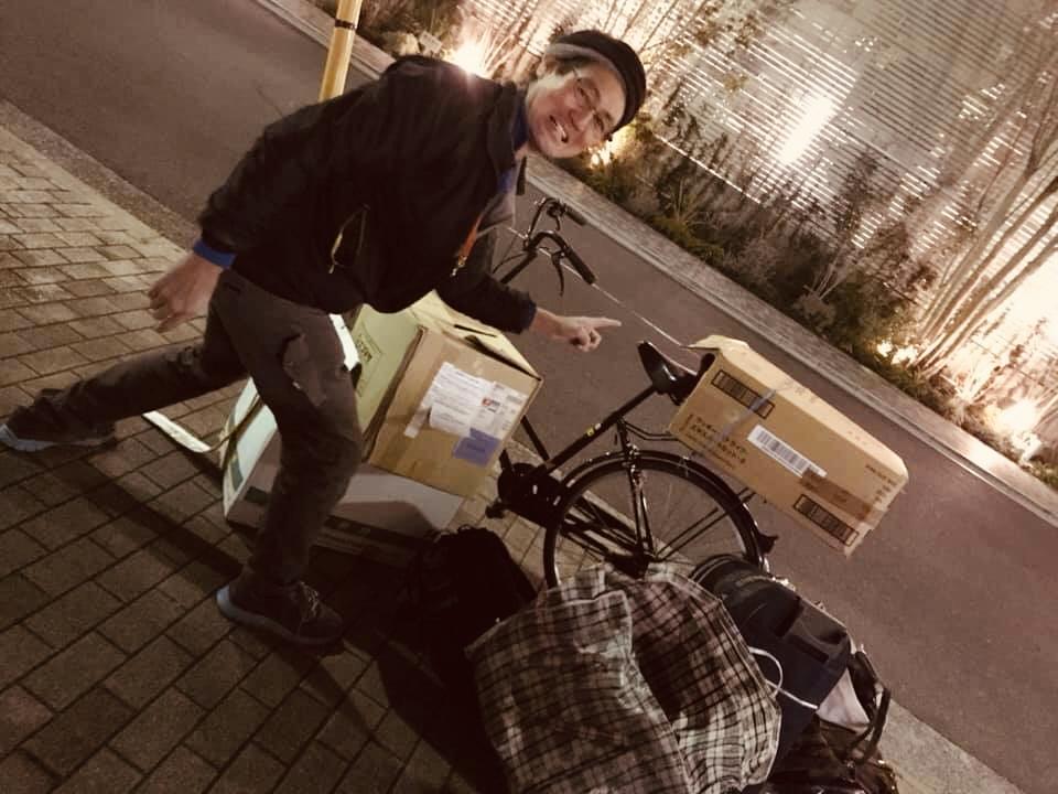 この荷物を載せて自転車に乗る規格外の三浦国宏