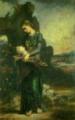 オルフェウスを抱くトラキアの娘