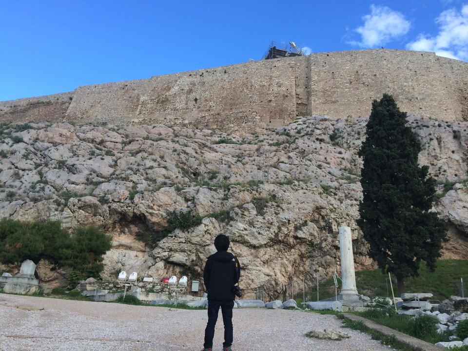 パルテノン神殿麓