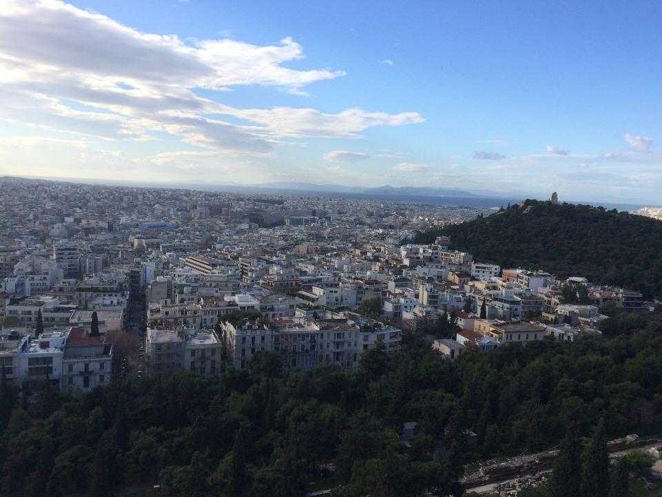 パルテノン神殿からの眺め