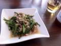 空芯菜とひき肉の炒め物