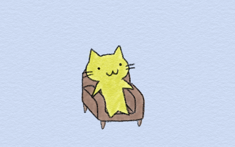 In the chair