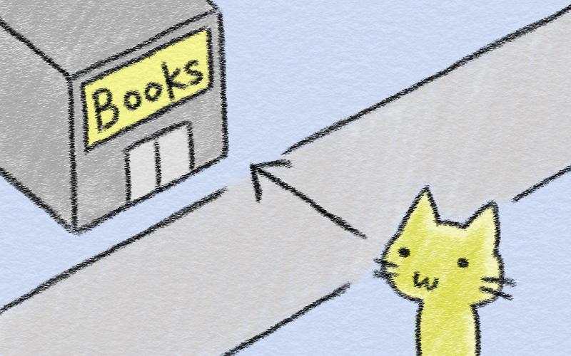前置詞のイメージ「横切って across」 - 猫でもわかる 秘密の英語 ...