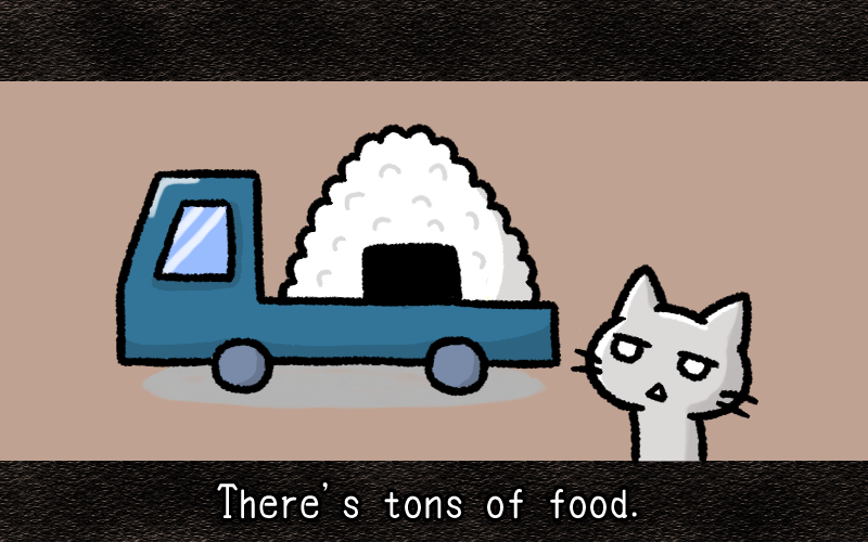 There is tons of food