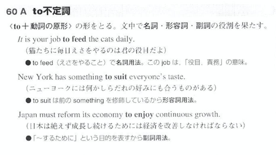 ロイヤル英文法 to不定詞