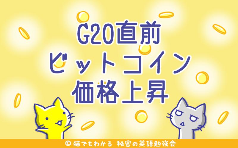 G20直前ビットコイン価格上昇
