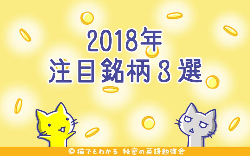 2018年注目銘柄3選