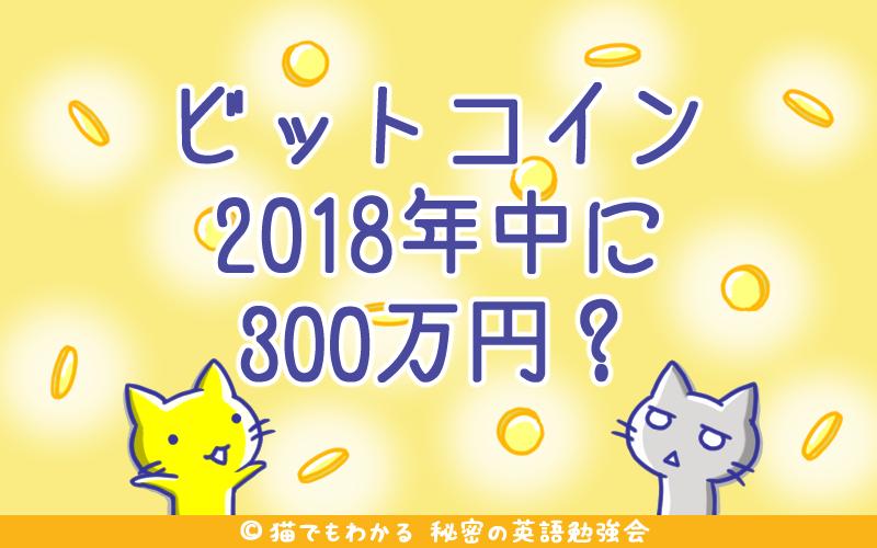 ビットコイン2018年中に300万円