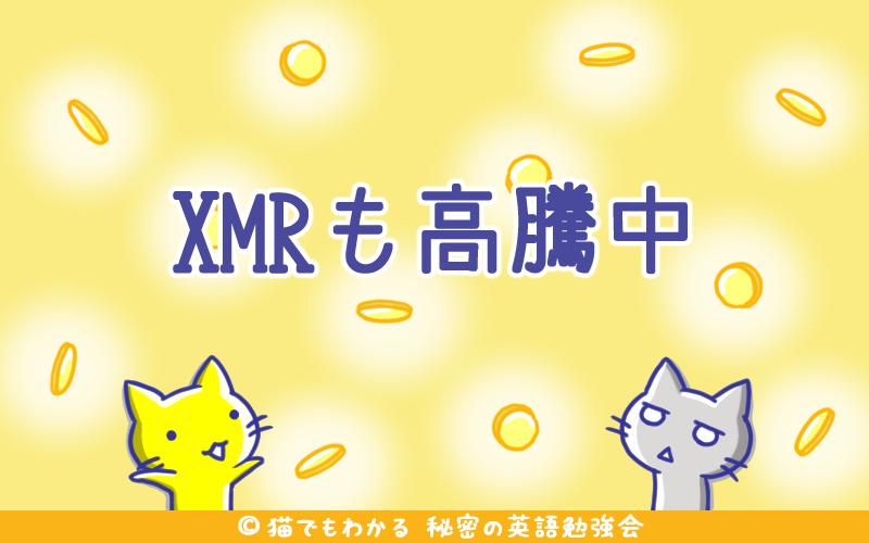 XMRも高騰中
