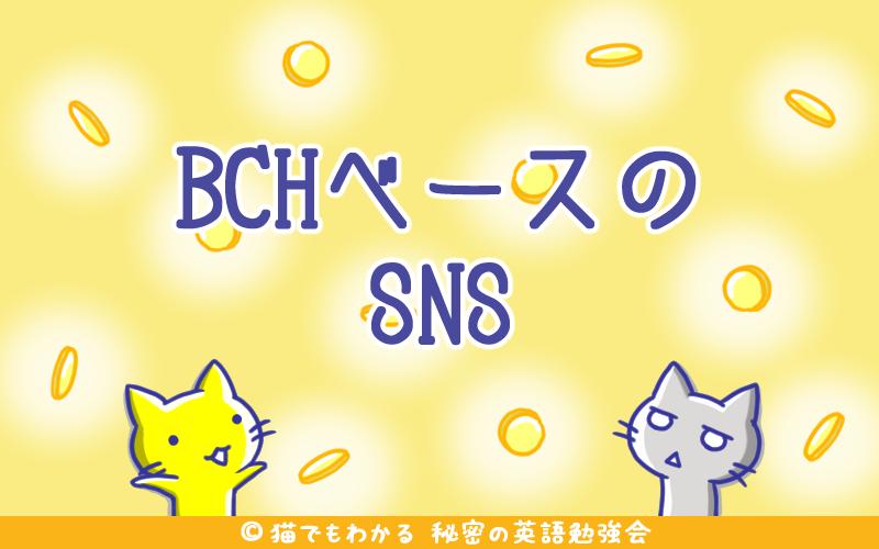BCHベースのSNS