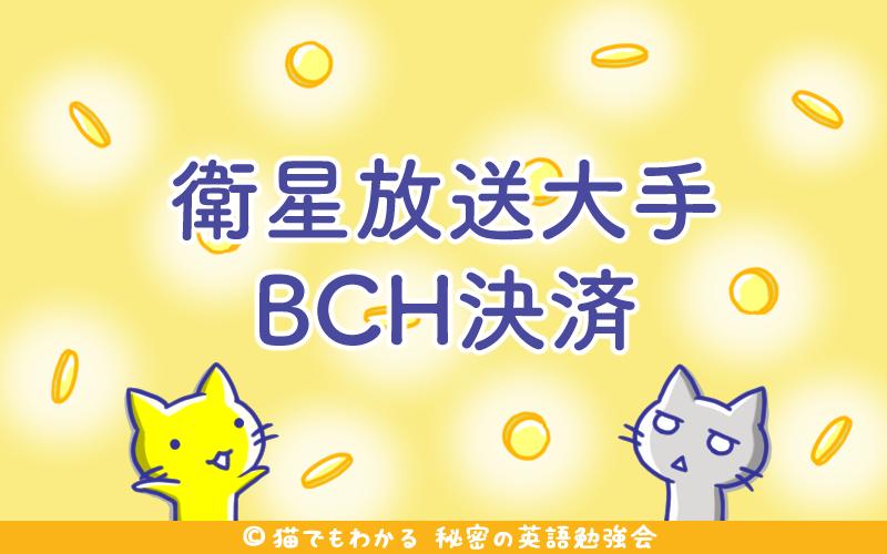衛星放送大手BCH決済