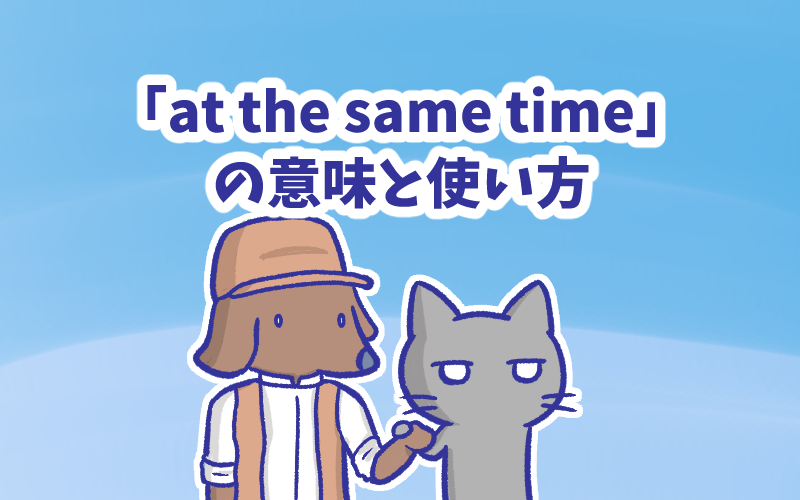 At the same time の意味と使い方