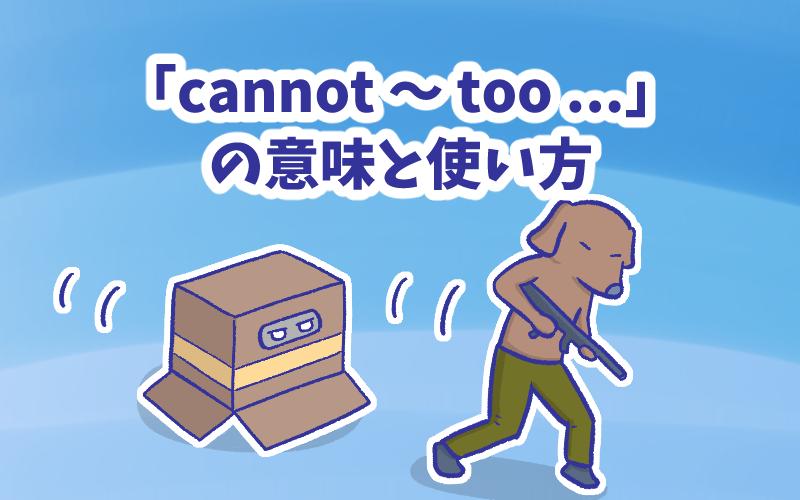 Cannot  too  の意味と使い方