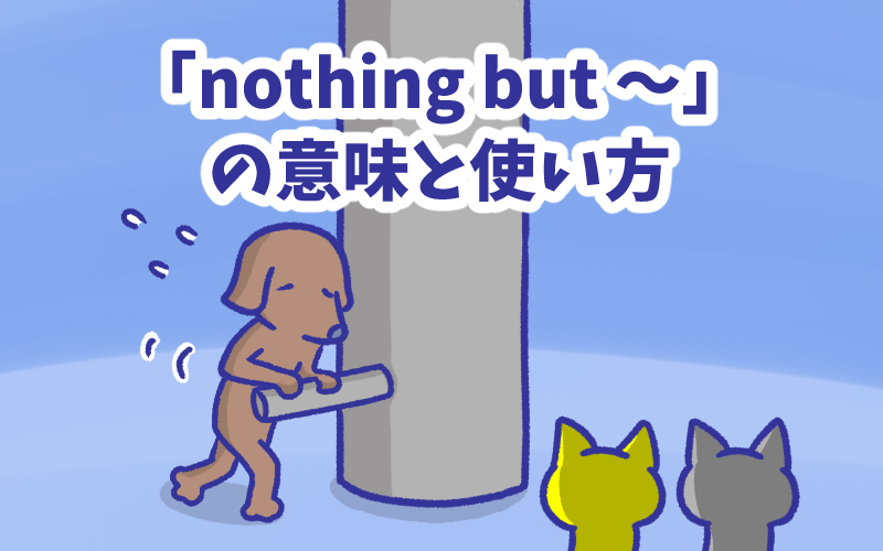 Nothing but  の意味と使い方