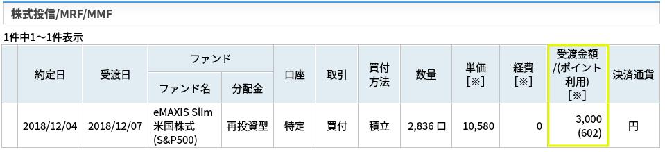 楽天証券の注文履歴