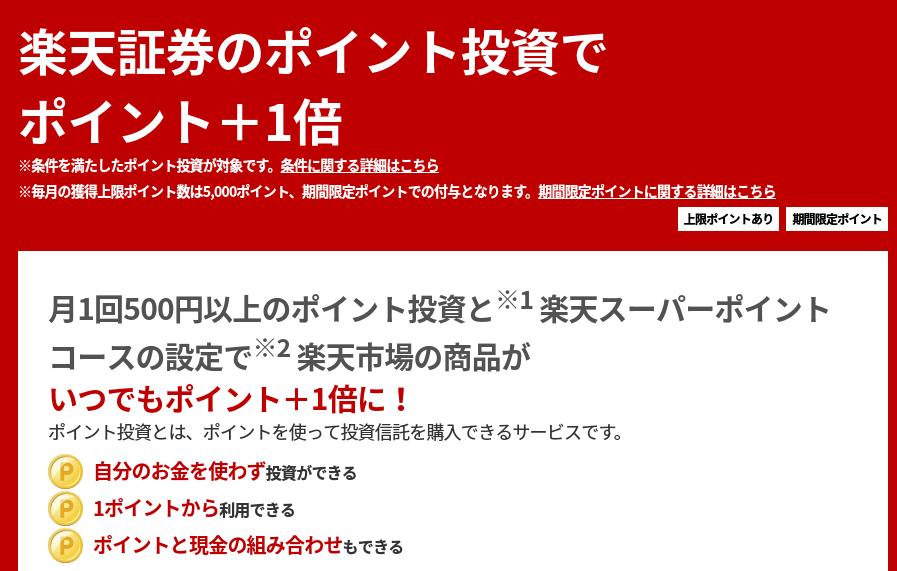 楽天のキャンペーン詳細