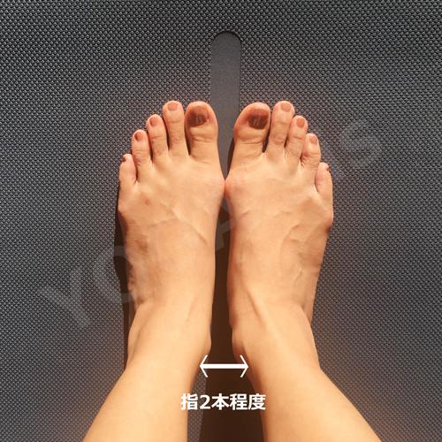 足元の正しい位置・重心2|滋賀県野洲市 YOGAサロン Sis