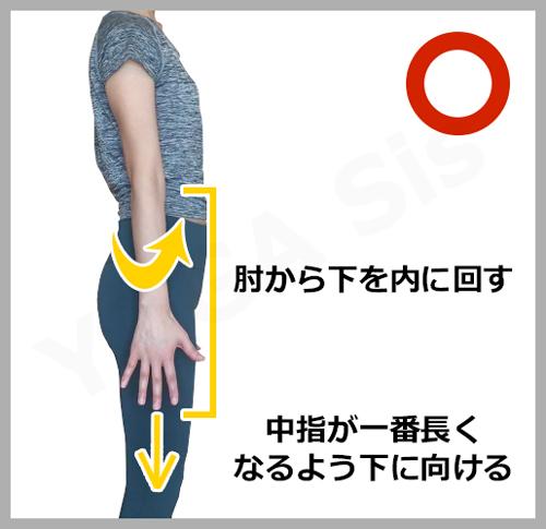 腕の正しい位置3|滋賀県野洲市 YOGAサロン Sis
