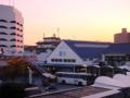[鉄道][駅][下関駅]JR下関駅 2001年11月19日 夕刻