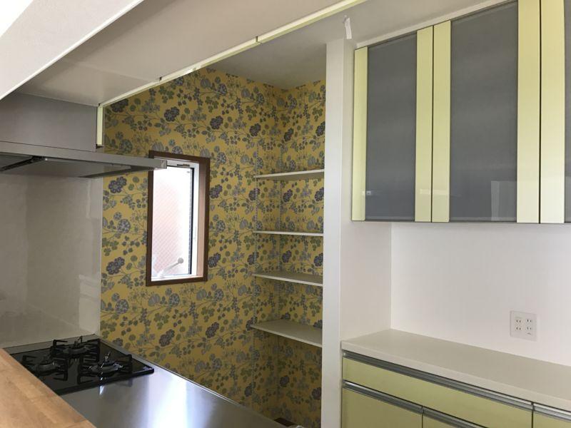キッチン アクセントクロス
