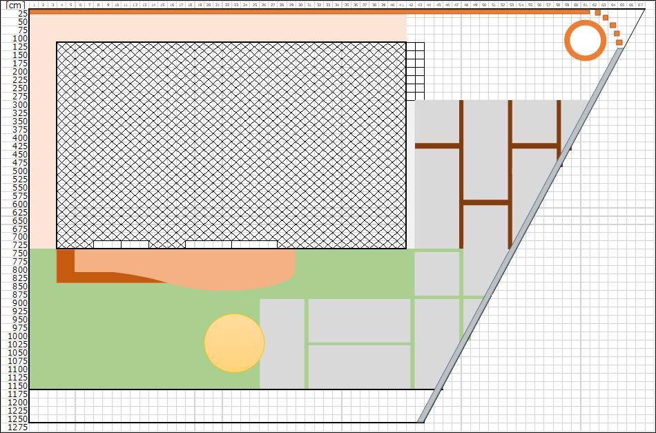 庭のデザイン、パース1