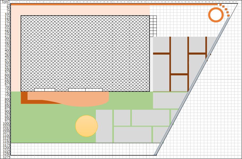 庭のデザイン、パース2