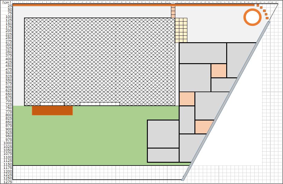 庭のデザイン、パース3
