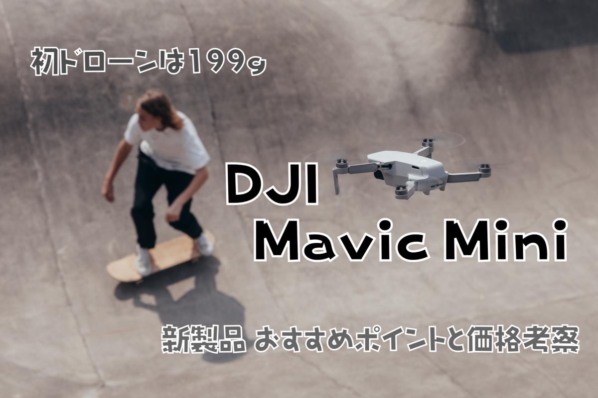 【初ドローンは199g】DJI Mavic Mini 新製品 おすすめポイントと価格考察
