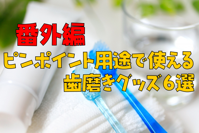 【番外編】ピンポイント用途で使える歯磨きグッズ6選|歯周病、知覚過敏、着色etc