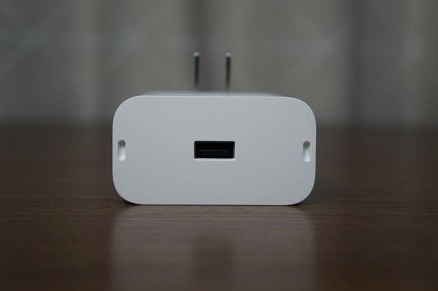 USBポートを一個備えている