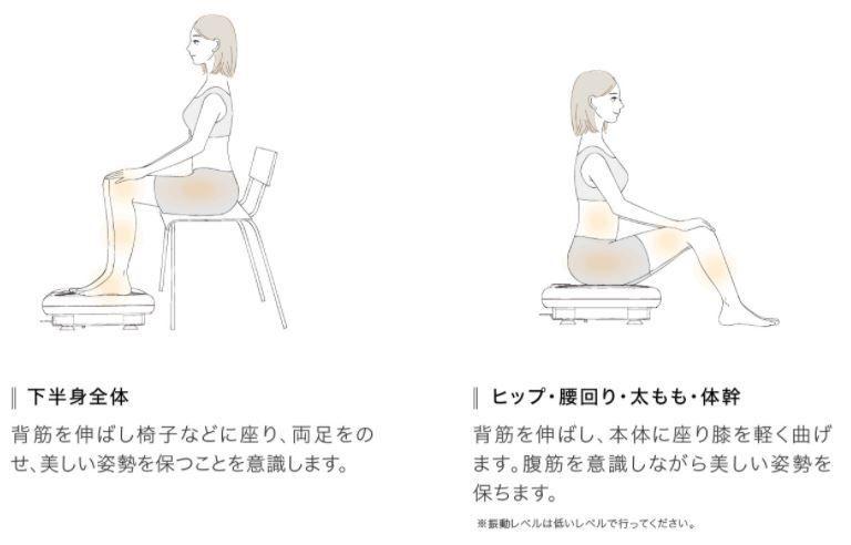 使い方は様々 立ったり座ったり
