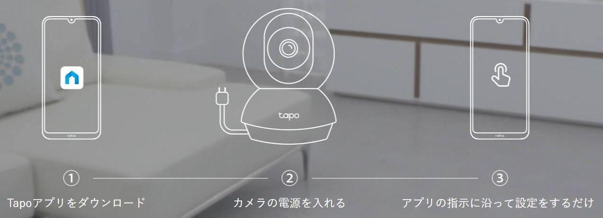 TP-Link Tapo C200 設定方法