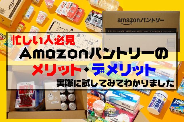 【忙しい人必見】Amazonパントリーのメリット・デメリット|実際に試してみてわかりました