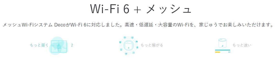メッシュWi-Fi × Wi-Fi6