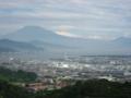日本平から望む富士山、清水港、日本平スタジアム (静岡県静岡市)