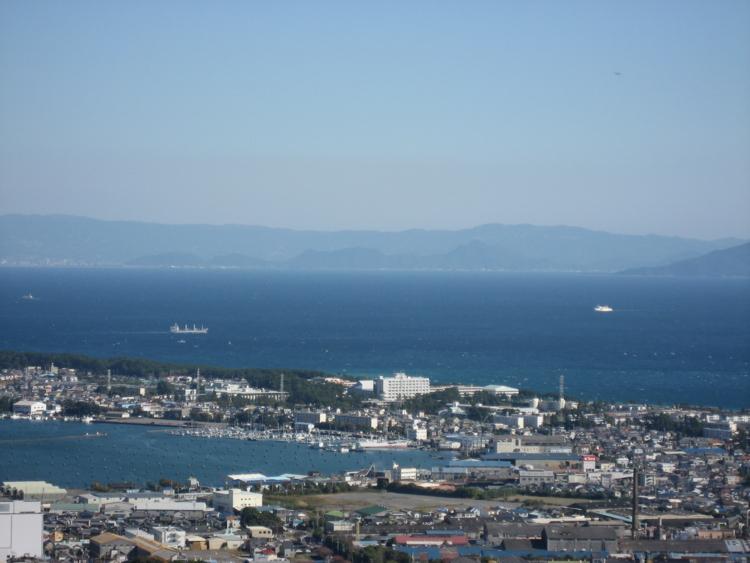 日本平から望む三保半島・駿河湾・伊豆半島 (静岡県静岡市清水区)