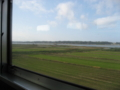 大洗鹿島線の車窓から北浦を望む (茨城県鹿嶋市)