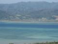 大岳の展望台から望む西表島と由布島 (小浜島)