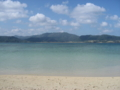 細崎のビーチから西表島を望む  (小浜島)