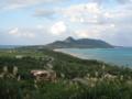 玉取崎展望台より 左の海が東シナ海。右の海が太平洋。(石垣島)